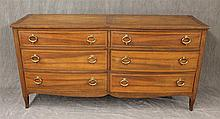 Baker Furniture, Dresser, Walnut, Six Inlay Drawers on Splayed Feet, 31