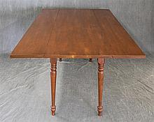 Drop Leaf Dining Table, Cherry, on Turned Legs 30