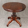 Centre Table, Mahogany, Circular Top, Turned Pedestal on Spider Feet, 27