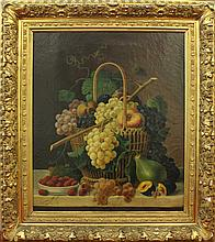 Roesen, Severin, (In the manner of), 19th Still Life with Fruit. Oil on Canvas.