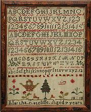 Martha Ratcliffe 1819 Sampler