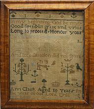 Ann Clark 1781 Sampler