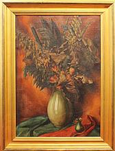 Kirk, Frank Cohen, 1889-1963, Pennsylvania/ Russia, Autumnal Floral Still Life. Oil on Canvas.