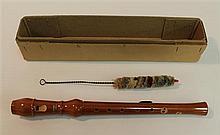 Baroque soprano recorder by Princess, wood; condition: good; with swab