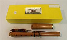 Renaissance alto recorder by Moeck, wood; condition: good; with swab and box