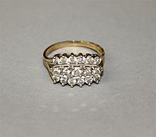 14K Two-Tone Gold, Diamond Ring