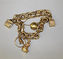 14KY Gold Charm Bracelet with 14KY and 18KY Charms