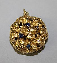 18KY Gold, Sapphire Charm