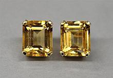 14KY Gold, Citrine Earrings