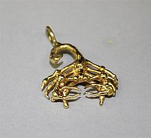 14KY Gold, Scorpion Pendant