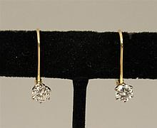 14KY Gold, Diamond Earrings