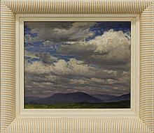 Sotter, George, 1879-1953, Pennsylvania, Clouds. Oil on Board.
