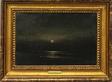 Hamilton, James, 1819-1878, Pennsylvania, Evening Beach Scene. Oil on Canvas.