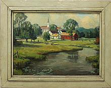 Teller, Grif, 1899-1993, New Jersey, Otis, Mass. Oil on Board.
