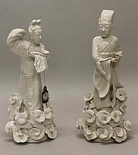 Pair of Blanc de Chine Figures