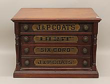 Cherry J&P Coats Spool Cabinet