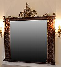 Adams style mahogany frame with gilt carved liar crest (Measurements available soon)