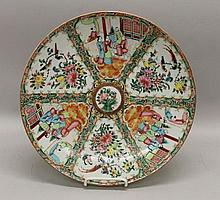 Large Chinese Rose Medallion Porcelain Charger