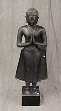Buddha Sculpture, Patina Bronze, 55