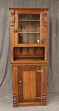 Victorian Eastlake Cabinet, Mixed Wood 77 1/2