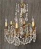 Chandelier, Crystal with Six Light Fixtures, 24