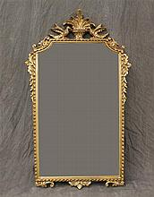 Mirror, Ornate Gold with Fleur de Lis Design, from the Carolina Mirror Company, 35