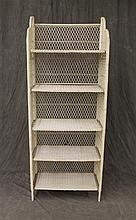 Vintage White Wicker Baker's Rack with Five Shelves, 68