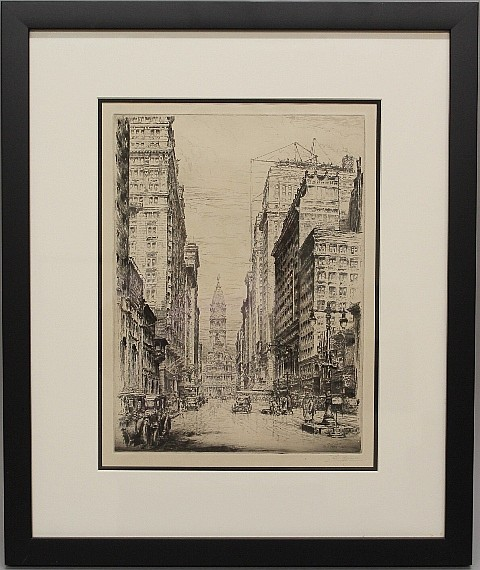 Framed Etching - Philadelphia Town Hall by Paul Gaissler, 1928