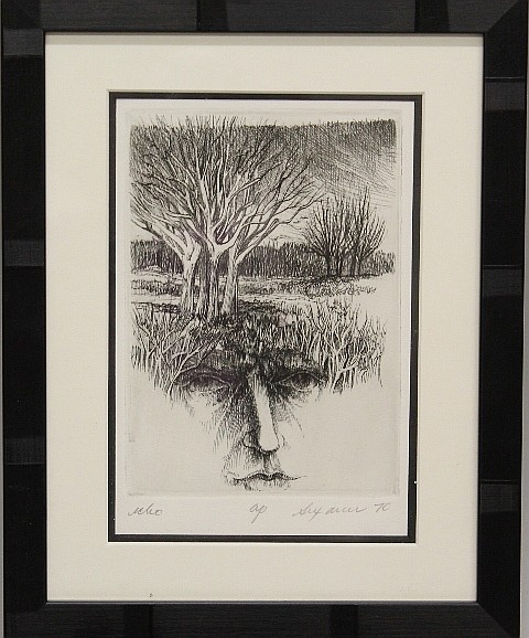 Framed Etching - #24 Echo