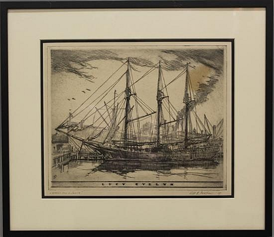 Framed Etching-