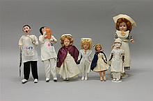 LOT OF (7) DOLLS WITH A MEDICAL THEME: (2) KLUMPE STYLE DOCTORS, (5) NURSES. Doctors: 9 1/2
