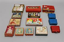 LOT OF ALL BISQUE/CELLULOID NOVELTY DOLLS IN ORIGINAL BOXES - DOLLY'S NURSING SETS, BABIES, IMMOBILES.  (6) My Dolly's Nursing Sets....