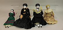 LOT OF (4) ANTIQUE CHINA HEAD DOLLS - 10 1/2