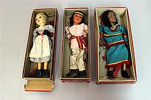 LOT OF (2) HAZELLE'S NON-TALKING MARIONETTES IN ORIGINAL BOXES: #814
