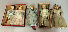 LOT OF (5) HAZELLE'S MARIONETTES: (3) NON-TALKING - #915