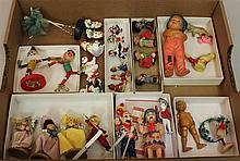 LOT OF VINTAGE MINI DOLLS AND FIGURES: INC. HOWDY DOODY CHARACTERS RAGGEDY ANDY FAMILY, ETC. Howdy Doody - hard plastic Howdy Doody ...