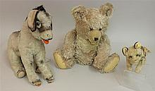 LOT OF (3) STEIFF ITEMS: MOHAIR - CAT AND