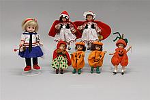LOT OF (7) MISC. SMALL MADAME ALEXANDER DOLLS AND EFFANBEE DOLLS.  (4) Madame Alexander : 8
