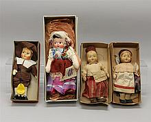 LOT OF (4) 1930's-1940's CLOTH MASK FACE DOLLS IN ORIGINAL BOXES: 11