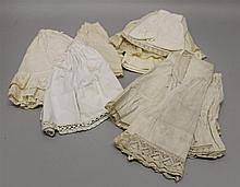 LOT OF (17) ANTIQUE WHITE COTTON DOLL PETTICOATS (10) 6