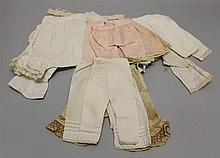 LOT OF ANTIQUE/VINTAGE PAIRS OF COTTON DOLL PANTALOONS. (1) Set of vintage 7