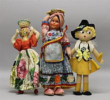 LOT OF (3) 1930's-1940's DOLLS FROM  OTHER COUNTRIES - 14 1/2