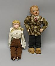 PAIR OF MALE DOLLS: 16