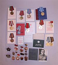 Large Soviet Order and Medal Grouping - ID'ed