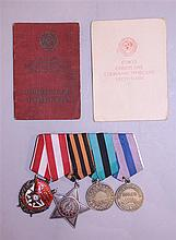 Soviet Order and Medal Grouping - ID'ed