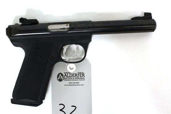 Ruger Target Model 22/45 MK III semi-automatic pistol. Cal. 22 LR. 5 1/2