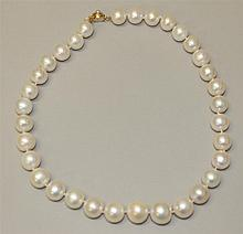 14K Yellow Gold, Pearl Necklace
