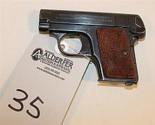 Colt Model 1908 Pocket Hammerless semi-automatic pistol. Cal. 25. 2