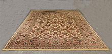 Feraghan Sarouk PatternWool Rug by Karastan, (Staining), 12'L x 8'8