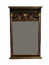 French Gilt Carved and Ebonized Mirror, 50